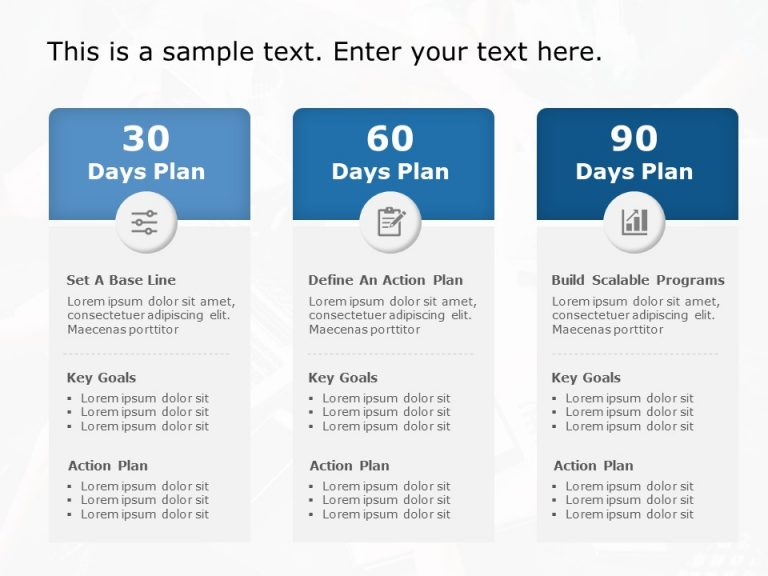 30 60 90 day plan Powerpoint template 4