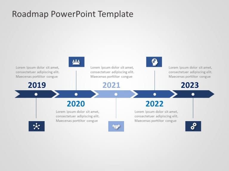 Business Roadmap PowerPoint Template 26
