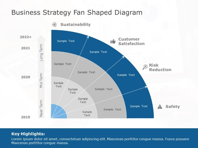 Business Strategy Fan Shaped Diagram Design