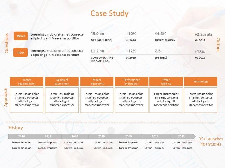 Case Study Timeline Template
