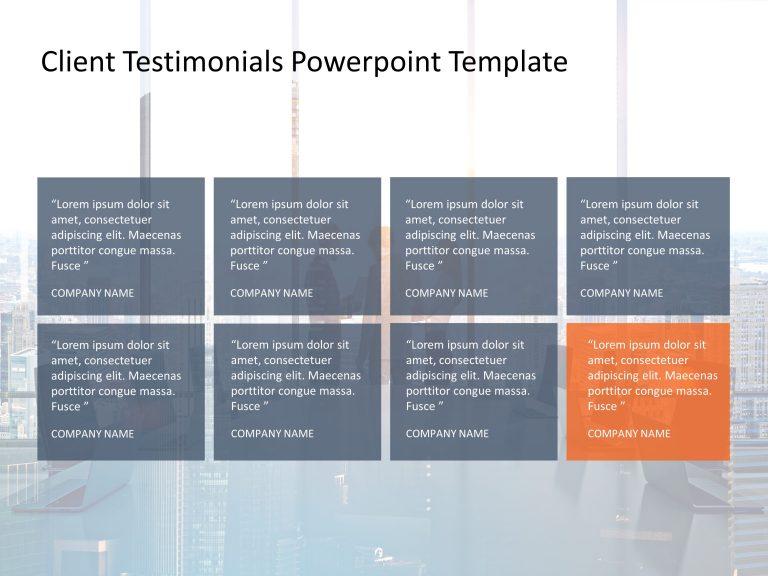 Client Testimonials Powerpoint Template 7