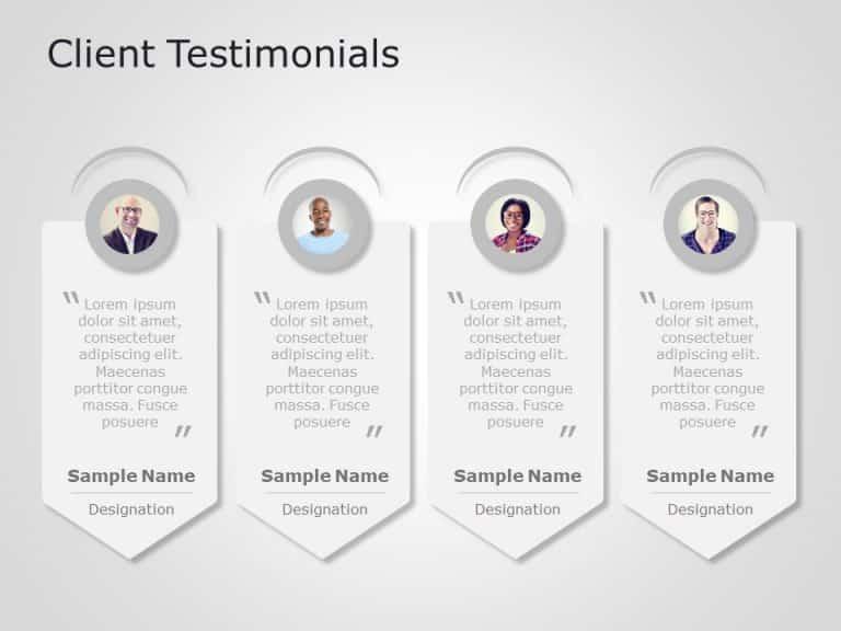 Client Testimonials Powerpoint Template 2
