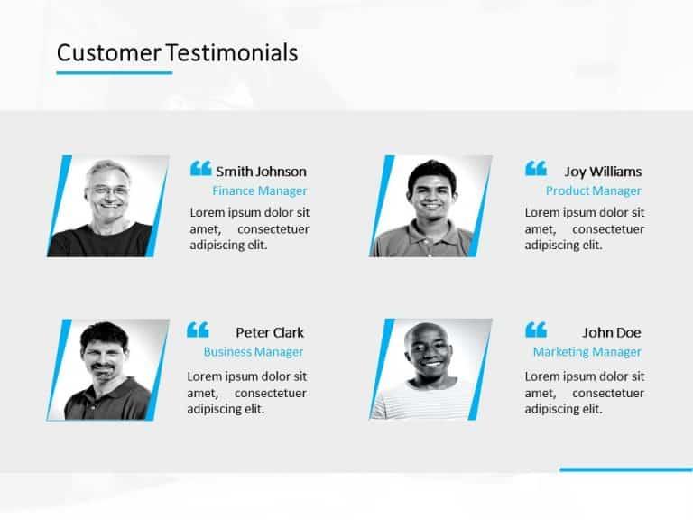 Customer Testimonial Powerpoint Template 10
