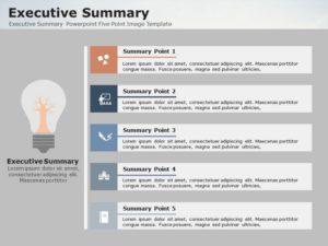Executive Summary Powerpoint Five Point Image Template 1