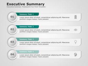 Executive Summary Powerpoint Four Point Template 1