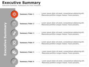 Executive Summary Powerpoint Six Point Template
