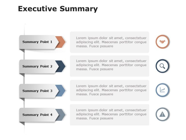 Executive Summary Slides 4 Point
