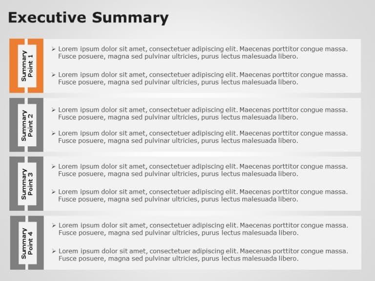 Executive Summary Slides 4 Steps