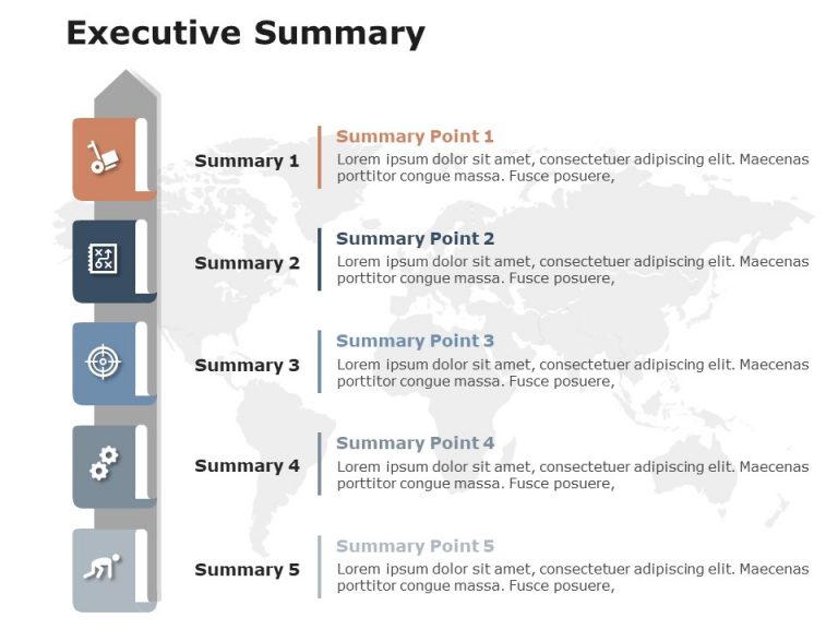 Executive Summary Slides 5 Point
