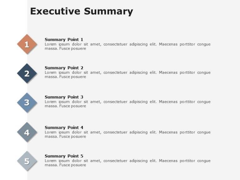 Executive Summary Slides 5 Pointer