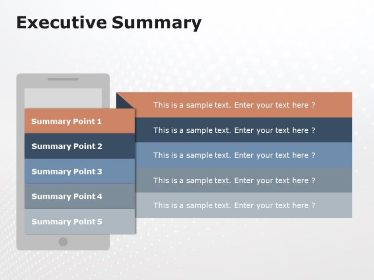 Executive Summary Slides 5 Points