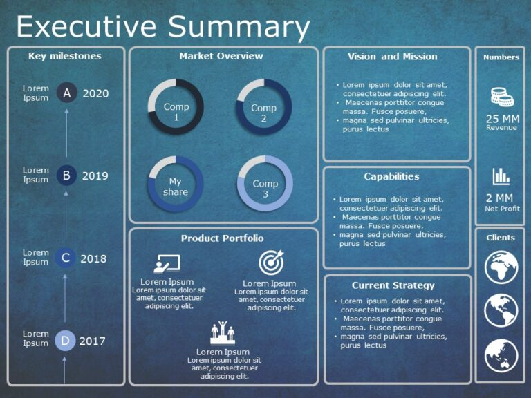 Executive summary PowerPoint Template 12