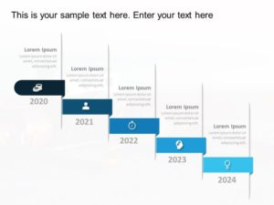 Horizon Timeline Powerpoint Template