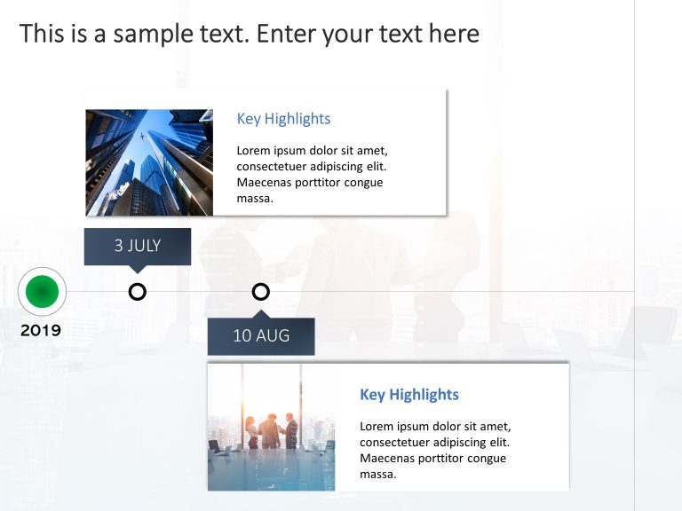 Key Dates Timeline PowerPoint