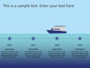 Ship Timeline PowerPoint Template