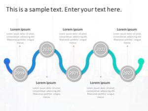 Timeline PowerPoint Cones