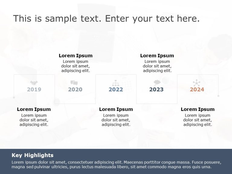 Timeline PowerPoint Template 19