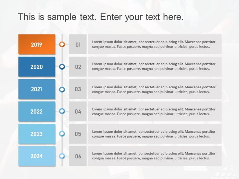 Timeline PowerPoint Template 21