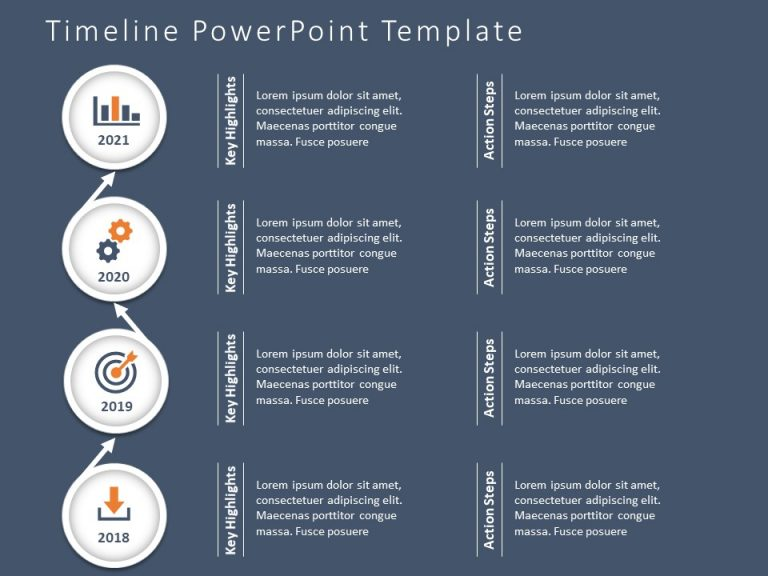 Timeline PowerPoint Template 50