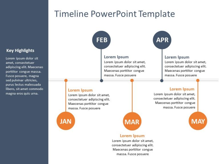 Timeline PowerPoint Template 53