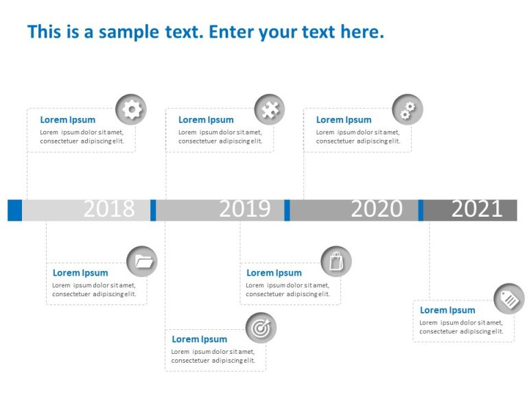 Timeline PowerPoint Template 55