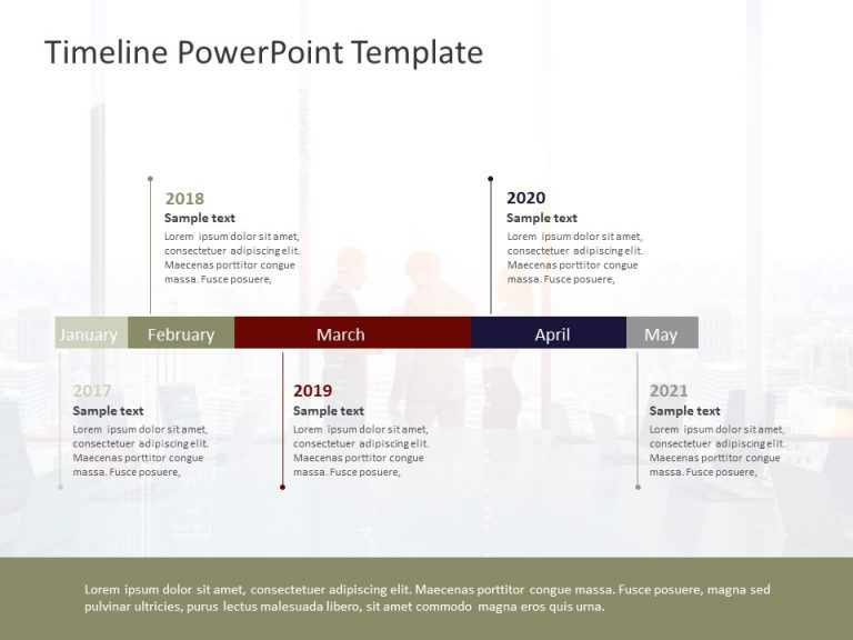 Timeline PowerPoint Template 58