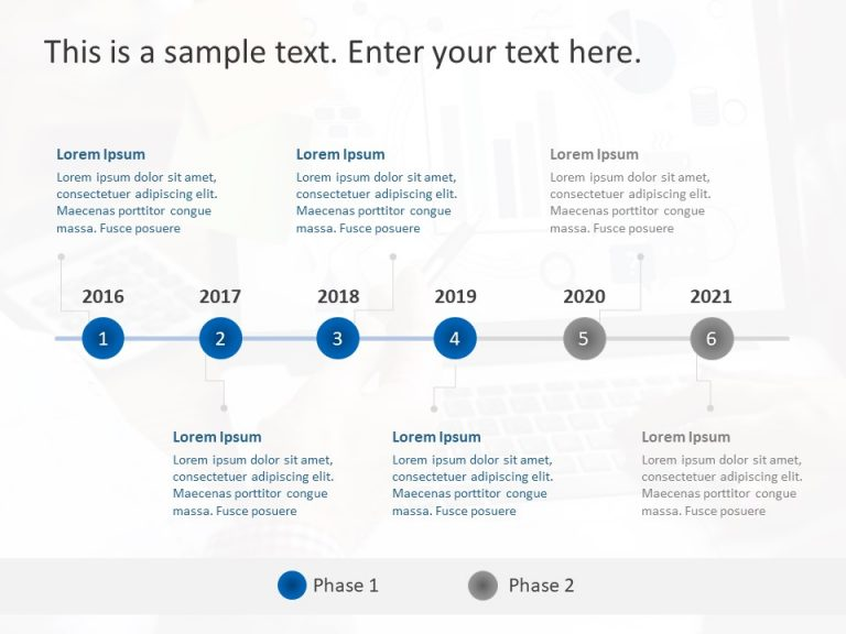 Timeline PowerPoint Template 61