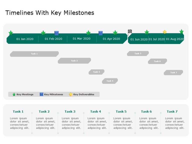 Timeline With Milestones Powerpoint Template