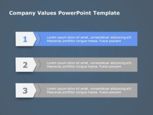 3 Steps Agenda PowerPoint Template