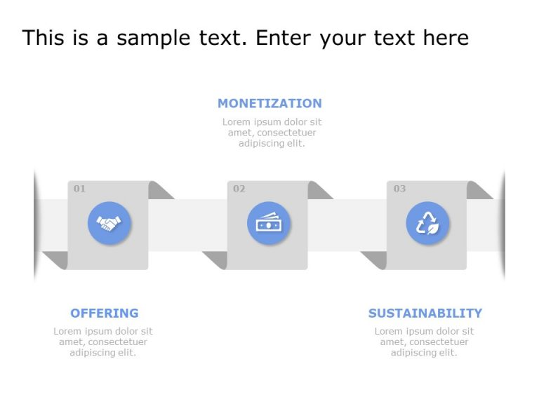 3 Steps Business Model PowerPoint Template