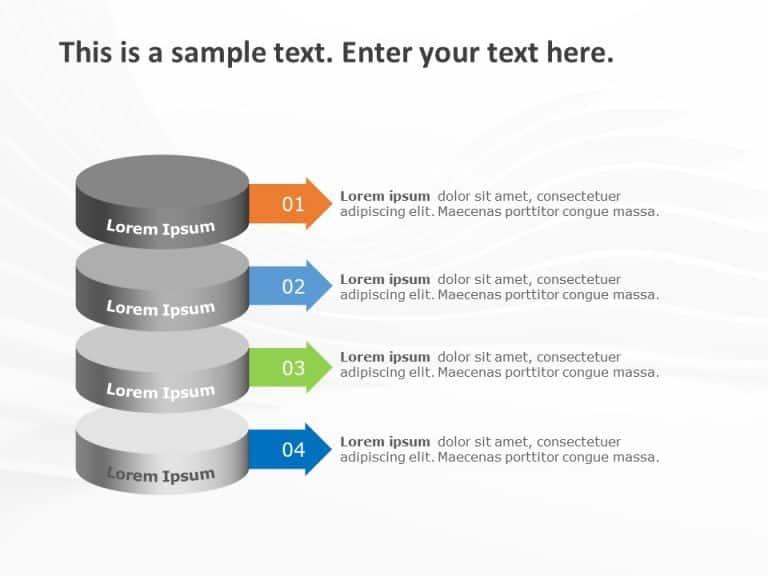 3D Agenda PowerPoint Template