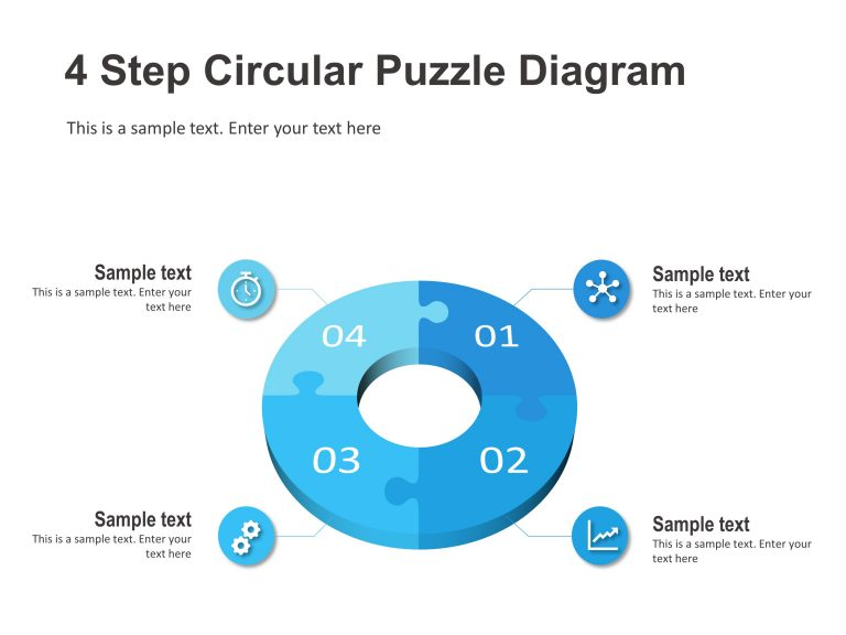 4 Step Circular Puzzle Diagram