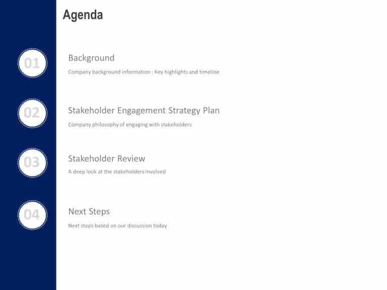 4 Steps Circular Agenda PowerPoint
