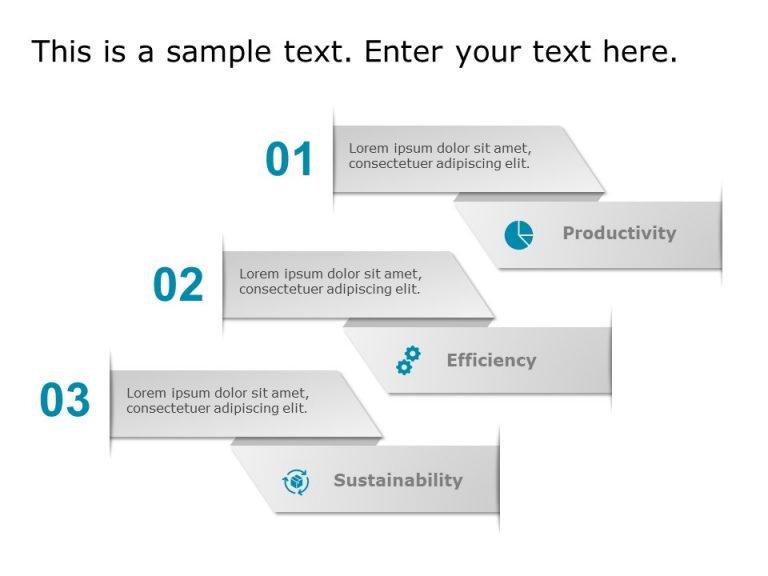 Agenda 3 Steps PowerPoint Template 6