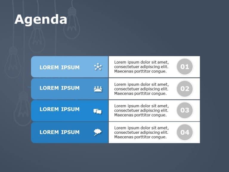 Agenda PowerPoint Template 15