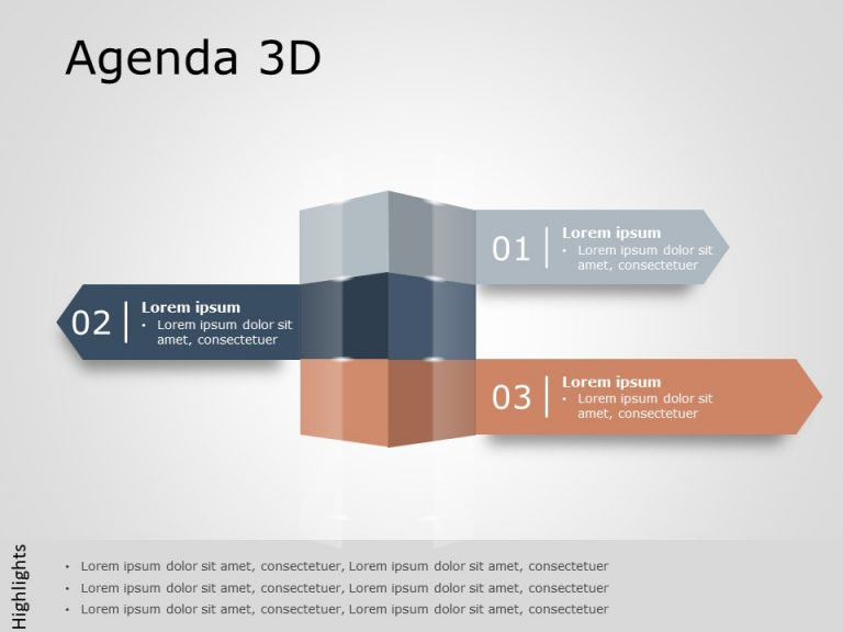 Agenda PowerPoint Template 19
