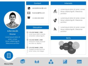 Animated Resume PowerPoint Template