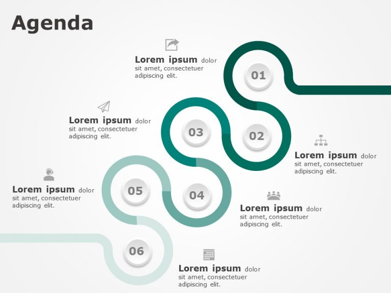 Business Agenda PowerPoint Template 2