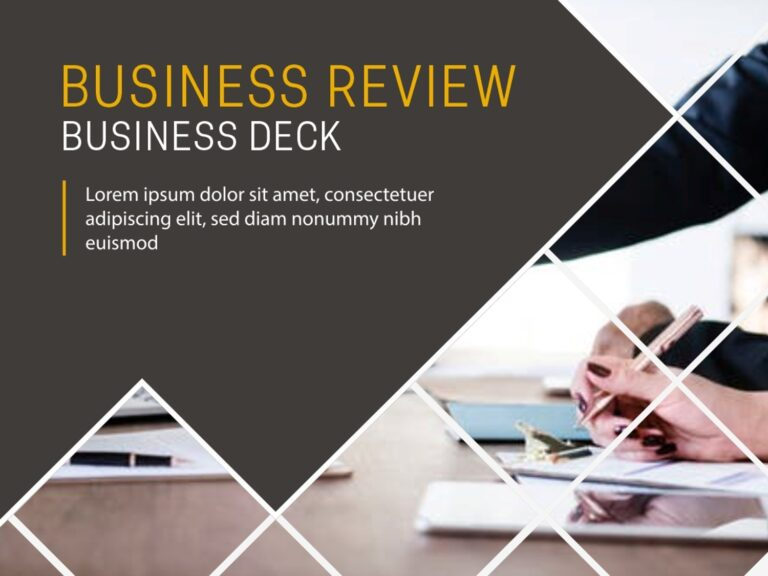 Business Review PowerPoint Deck