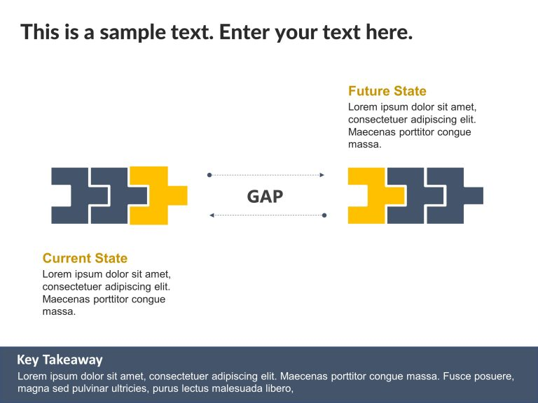 Current State Vs Future State Gap PowerPoint