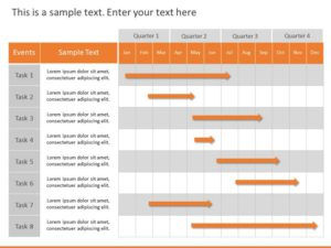 Editable Gantt Chart For PowerPoint
