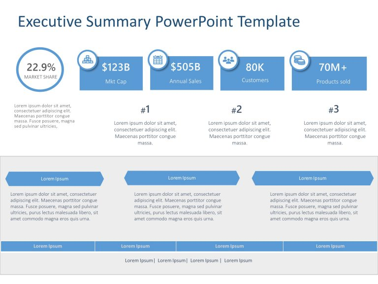 Executive Summary PowerPoint Template 40
