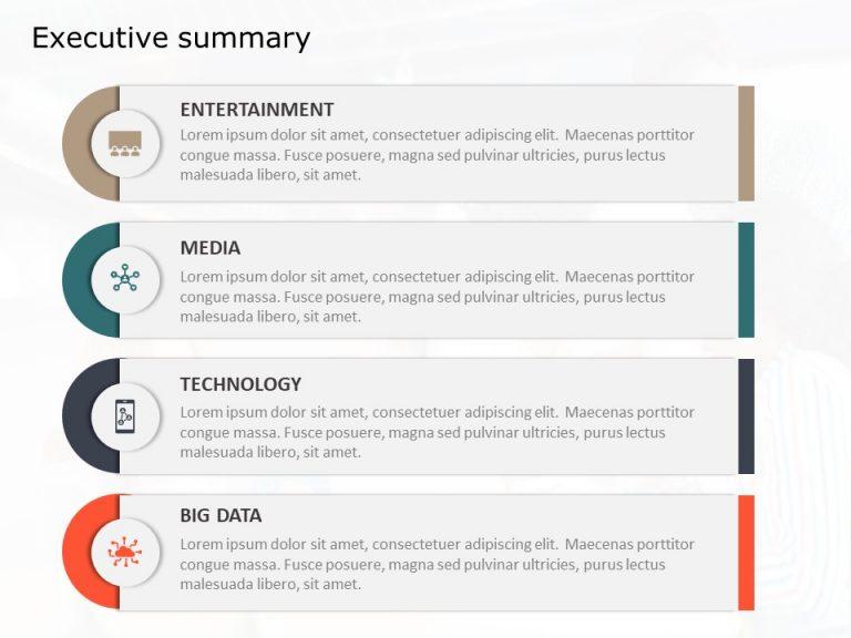 Executive Summary PowerPoint Template 60