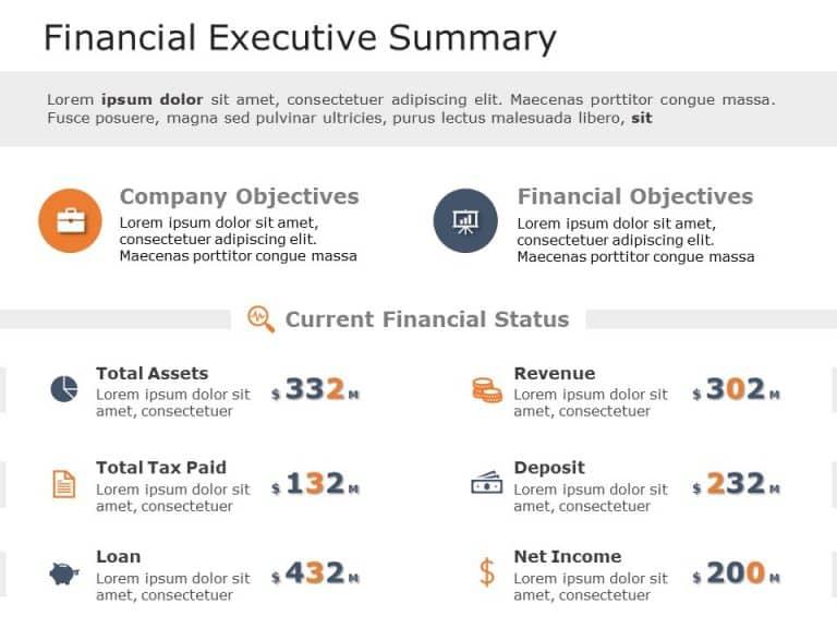 Free Financial Executive Summary Template
