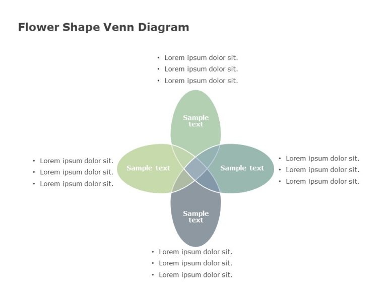 Flower Shape Venn Diagram Template
