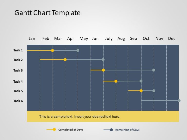 Gantt Chart PowerPoint Template 1