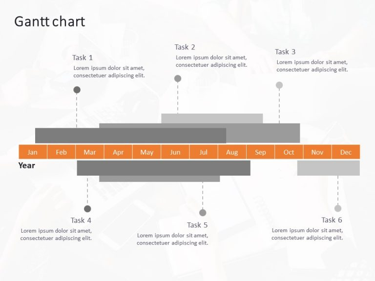 Gantt Chart PowerPoint Template 10