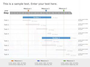Gantt Chart PowerPoint Template 14
