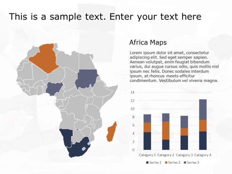 Africa Map PowerPoint Template 3