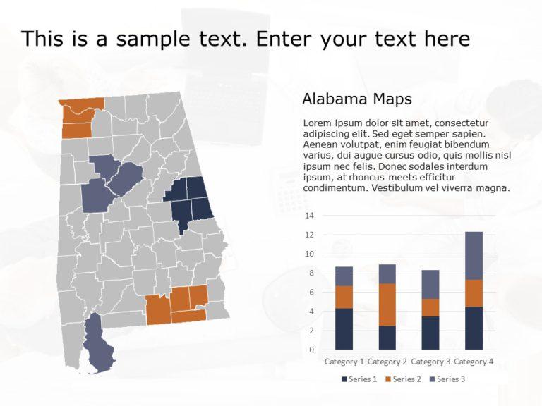 Alabama Map PowerPoint Template 1